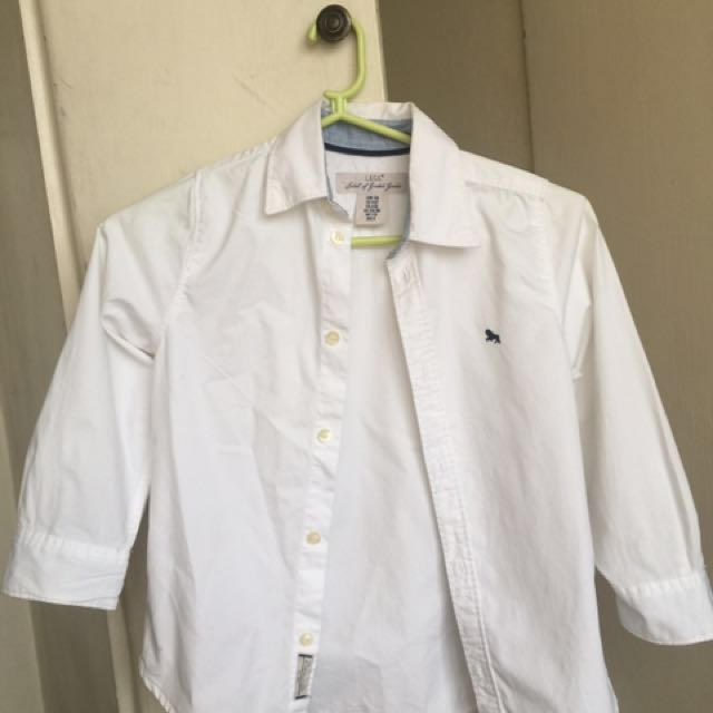 732c5b274 H&M White Long Sleeve Polo, Babies & Kids, Boys' Apparel on Carousell