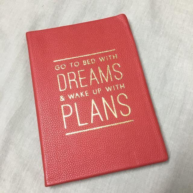 indigo leather notebook