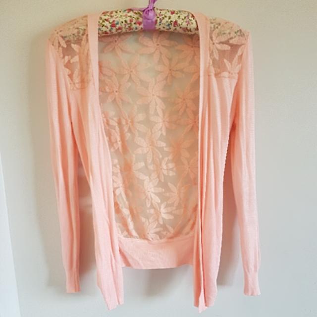 Jia 🎀 Pink See Through Cardigan