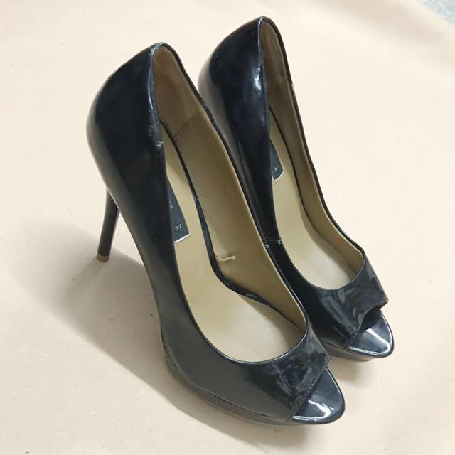 Mango Black Heels