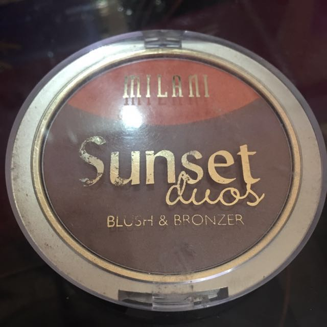 Milani Sunset Duos blush and bronzer