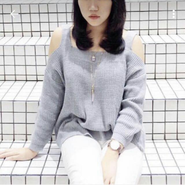 Modelano Knit Grey Top Ori