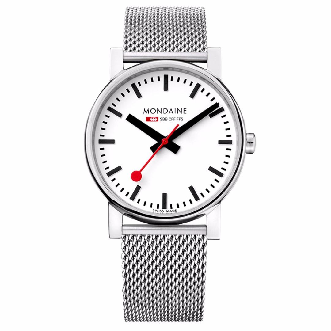 MONDAINE 瑞士國鐵經典鋼鍊錶/35mm 658011V