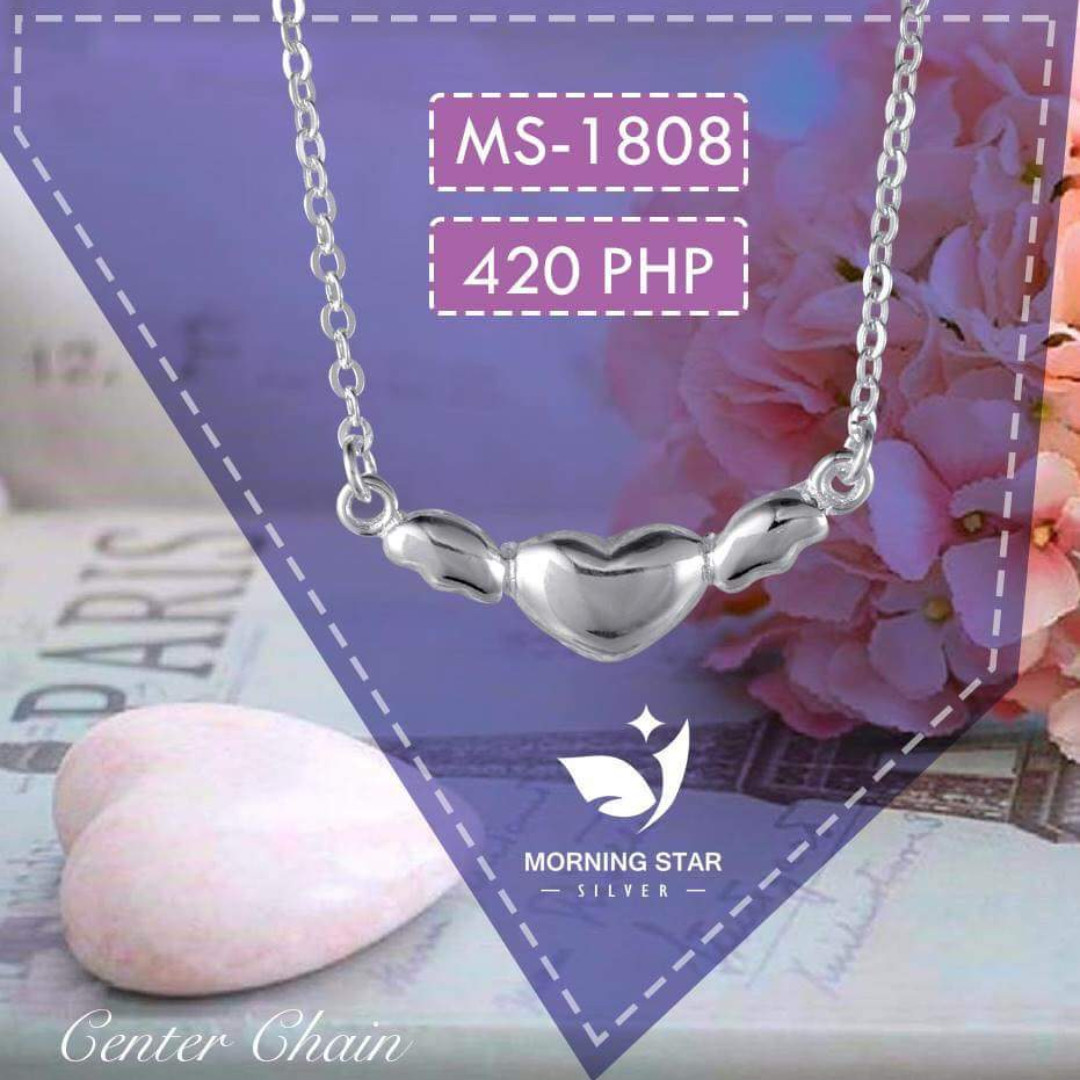 MS1808 Center Chain 925 Silver Necklace
