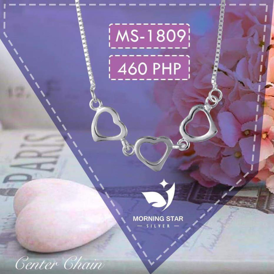 MS1809 Center Chain 925 Silver Necklace