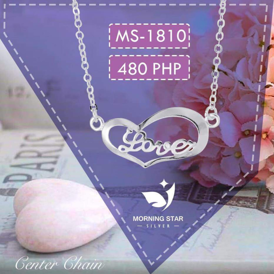 MS1810 Center Chain925 Silver Necklace