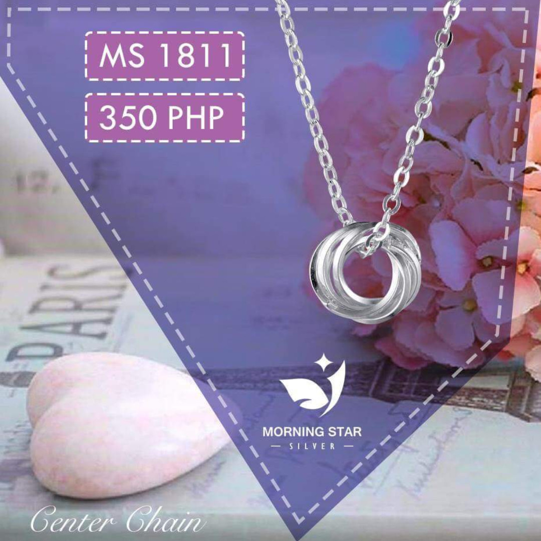 MS1811 Center Chain 925 Silver Necklace