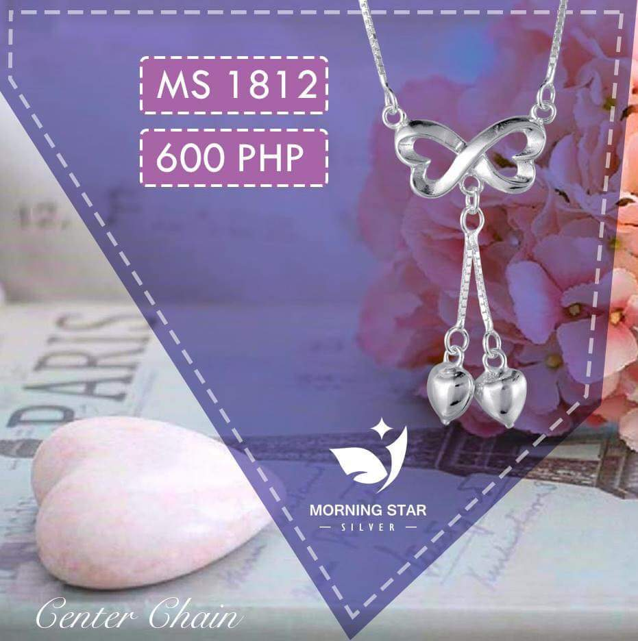 MS1812 Center Chain 925 Silver Necklace