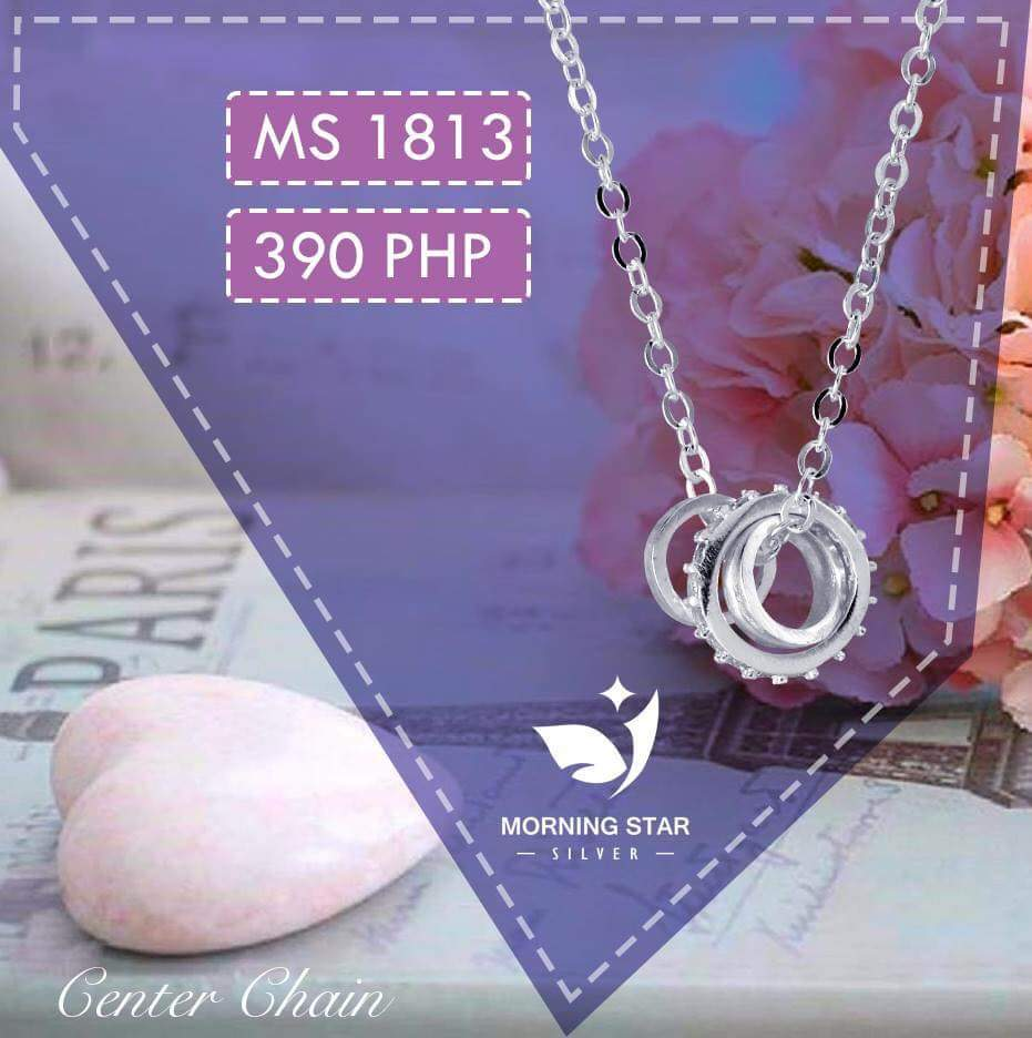MS1813 Center Chain 925 Silver Necklace