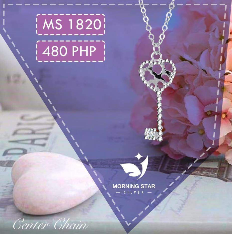 (COD) MS1820 Center Chain 925 Silver Necklace