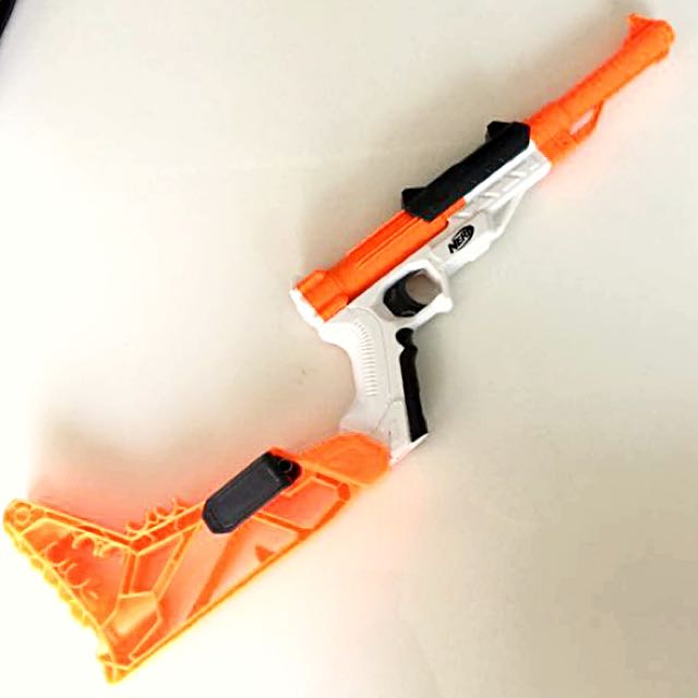 Nerf Sharpfire with a coat of Star Wars paint & weathering.