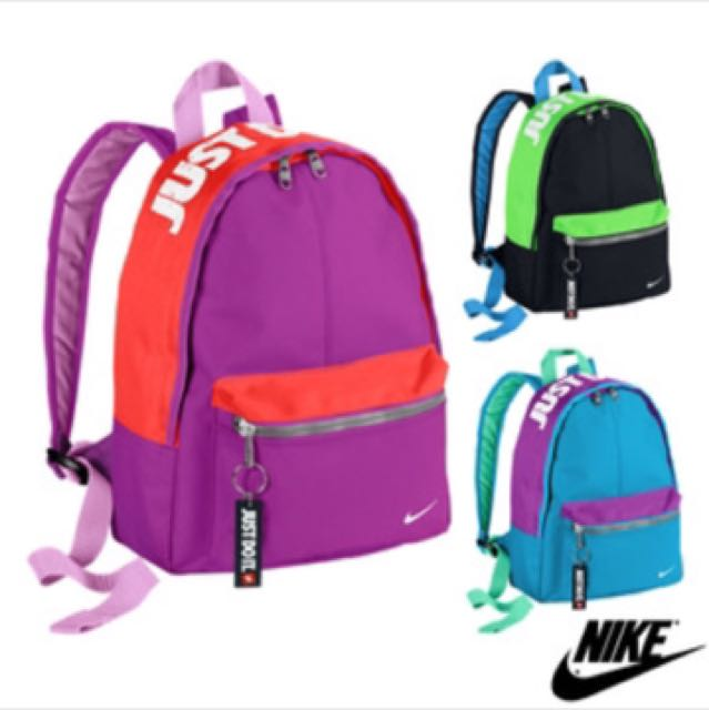 Nike 小後背包 黑綠款