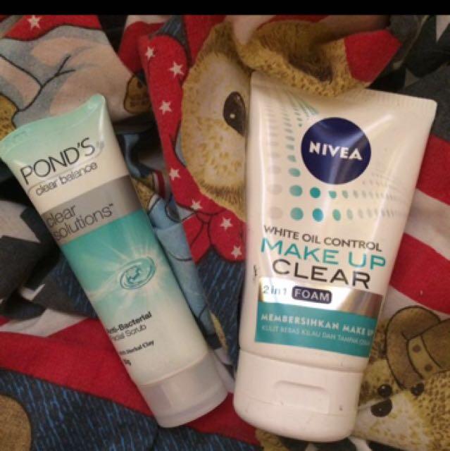 Nivea make up clear 2 in 1 facial foam