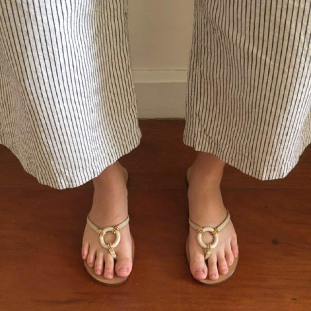 Original Ivory Escada Sandals