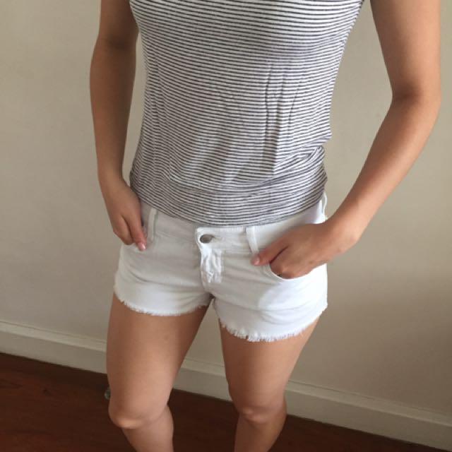 Original White Topshop Shorts