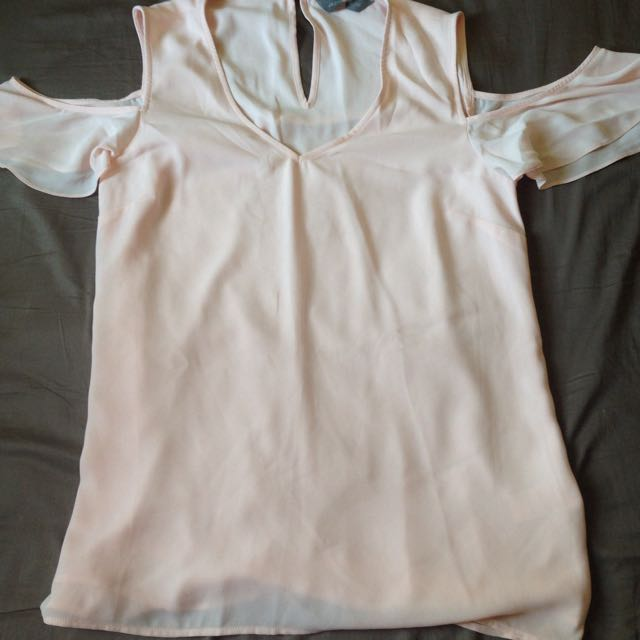 Pink Cropped Shoulder Blouse -Jacquie Brand from Aussie