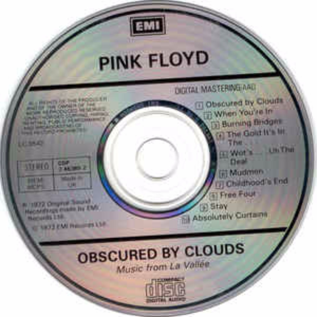 Pink Floyd Obscured By Clouds cd, Music & Media, CDs, DVDs