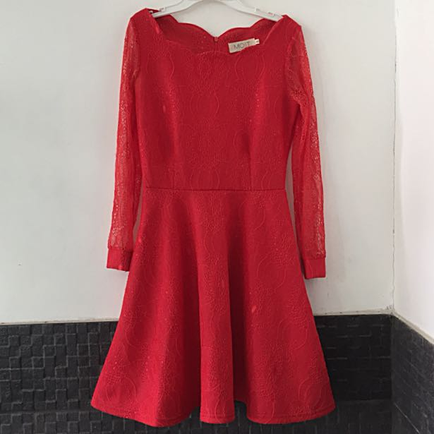 Red Lace Party Dress