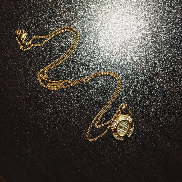 REPRICED Gold Necklace W/ Crucifix