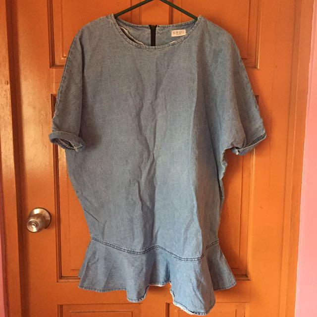 REPRICED Oversized Jean Shirt Dress