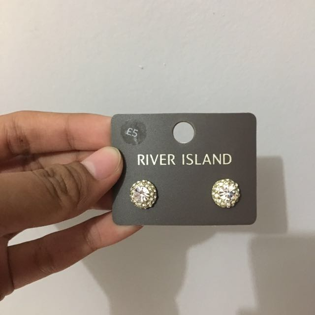 River Island Studded Crystal Earing