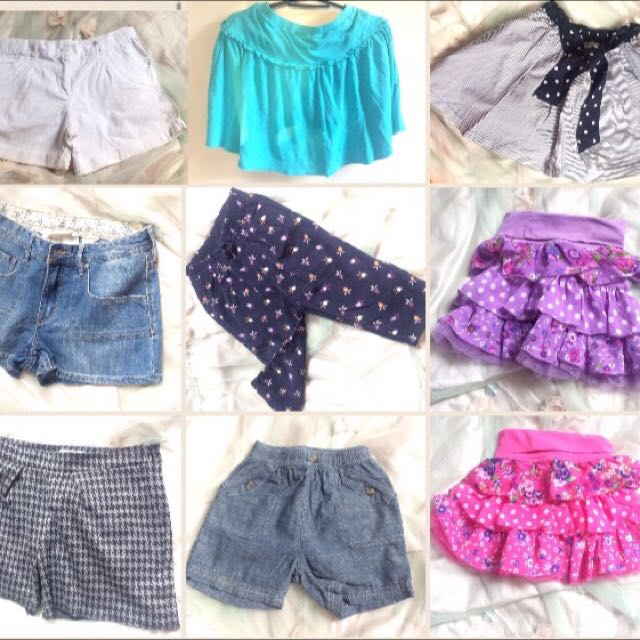 Shirts Skirts Shorts Make-up Others