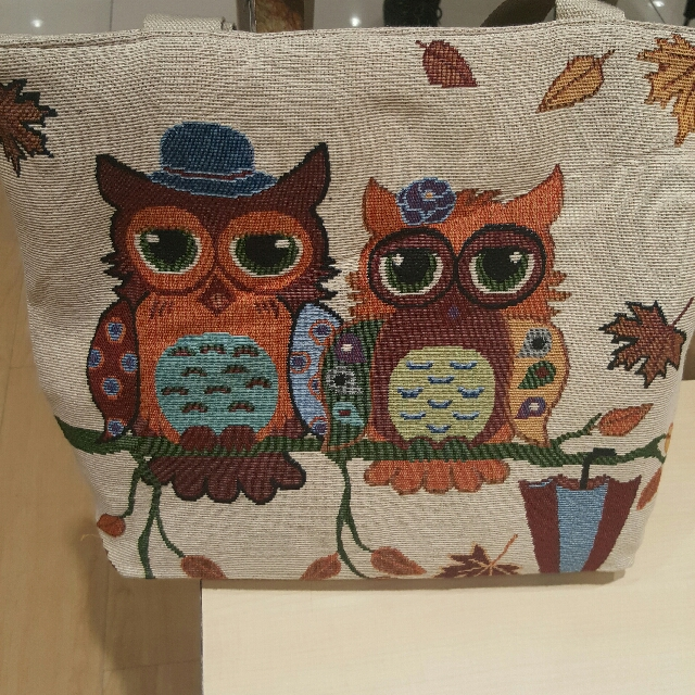The Owl Canvas Tote Bag