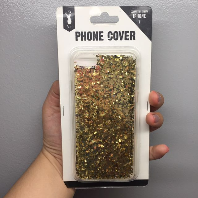 Typo iPhone 7 Jelly Case Glitter Gold