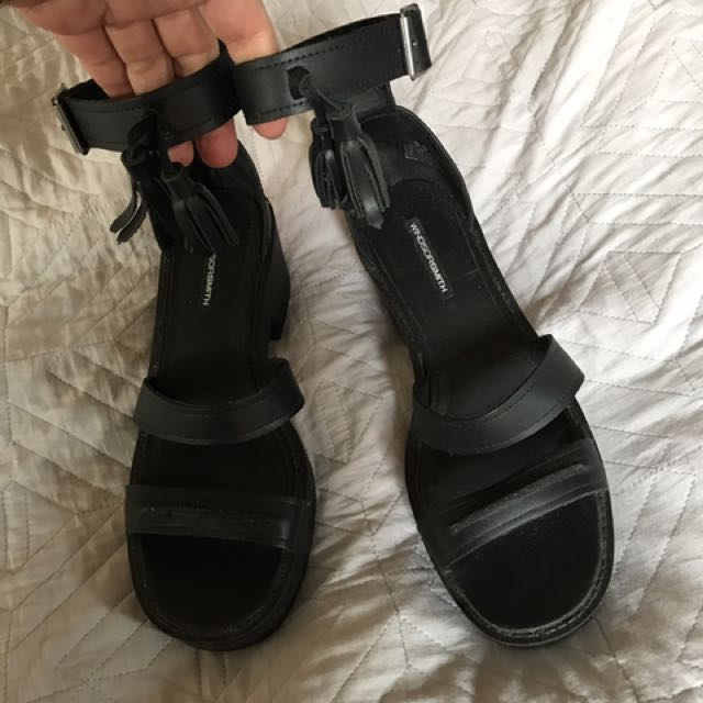 Windsor Smith black chunky sandals 10/41 worn once lightly