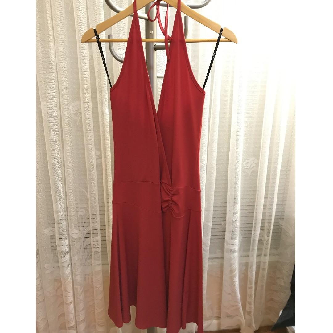 Wish Red halter neck dress size 10