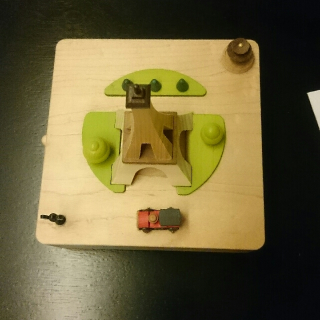 Wooden Music Box (Eiffel Tower With Moving Car)