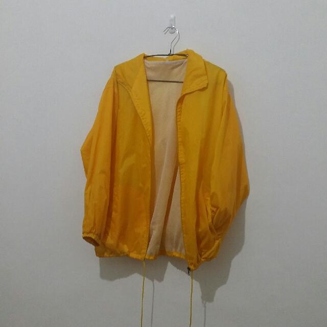 Yellow windbreaker Jacket