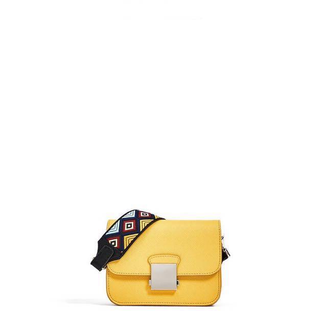 Zara basic floral sling bag