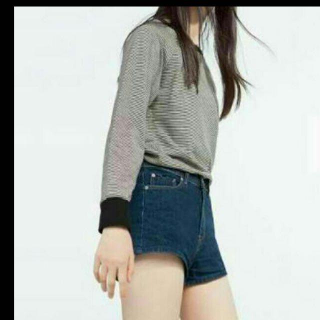 Zara Denim Highwaist Shorts
