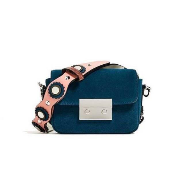 Zara double lock sling bag