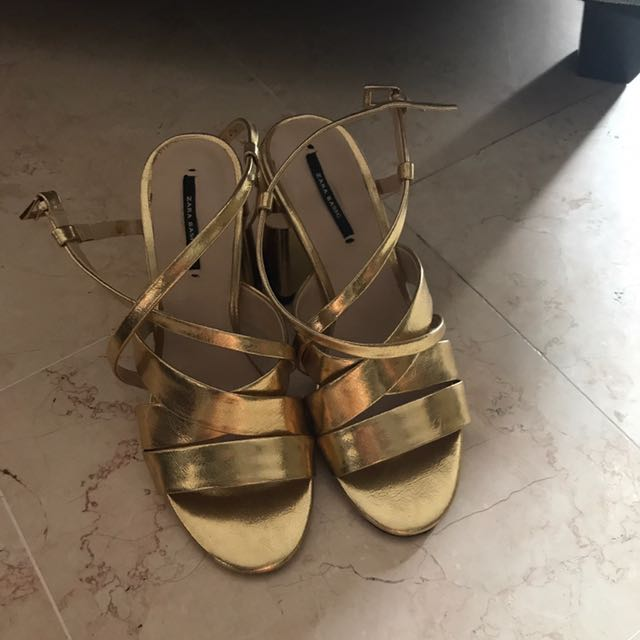 Zara Gold heel shoes