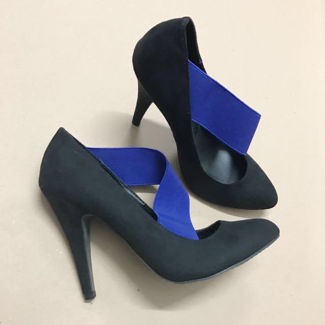 Zara Heels with Blue Strap