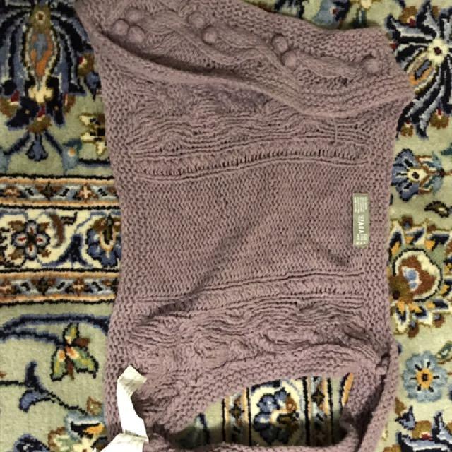 Zara Lavender Knit Vest Size M