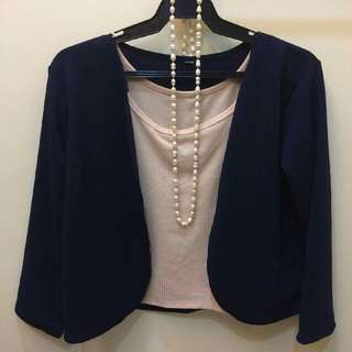 Navy Blue Blazer with a choice of Inner Sando