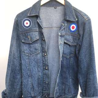Jaket Denim Washed clothing brand Trust