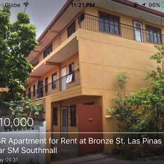 2 BR Apartment at Bronze st. Pilar Village, Las Pinas 2 storey unit with 2 bedrooms, t & b, kitchn, dining area, living room; secured in a compound; near Alabang Town Center and financial district; 1 month advance and 2 months deposit; P10,000 per month