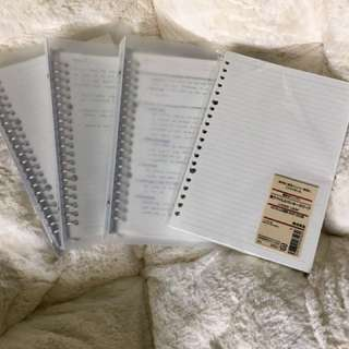 Muji Notebooks and Refill Paper