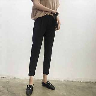 BNWT BLACK SLIP ON FORMAL PANTS