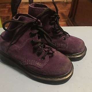 Doc Martens suede boots for girls