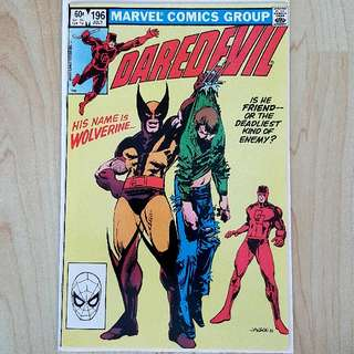 Marvel Comics Daredevil 196 Near Mint Condition Wolverine