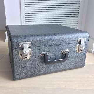 Vintage wood suitcase