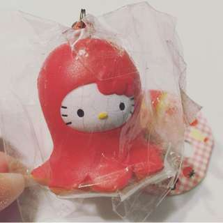 Hello Kitty Bento Series Octopus Hotdog Squishy
