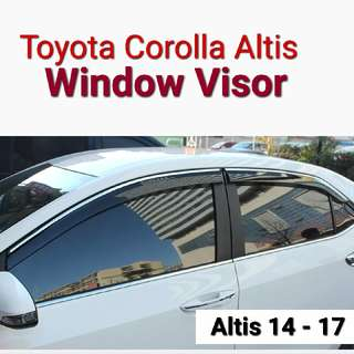 Toyota Corolla Altis Window Door Visor 14 - 17