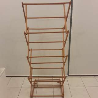 Wooden Foldable Clothes Drying Rack