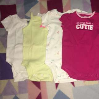 Take All !!! 4pcs Branded baby Girls Clothes (onsies)